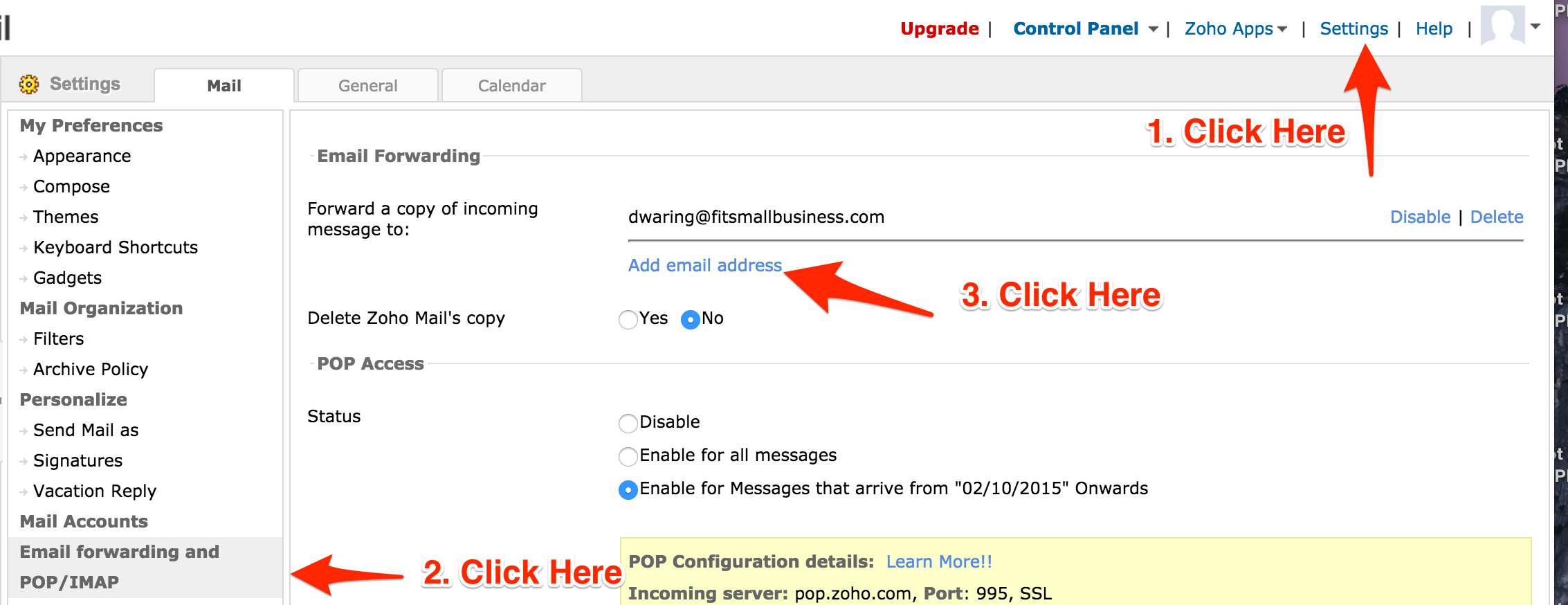How To Link Zoho Email With Gmail – Taona Designs
