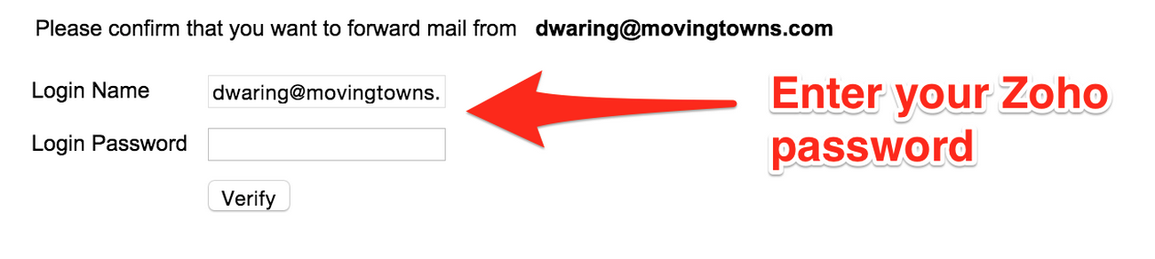 Verify Email Forwarding